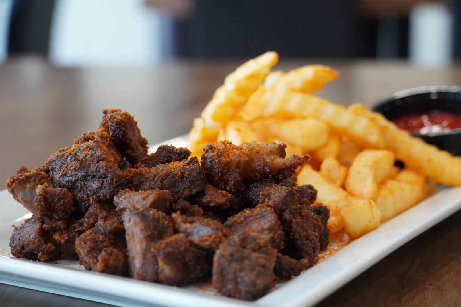 Fusion Vibes Beef Suya + Fries