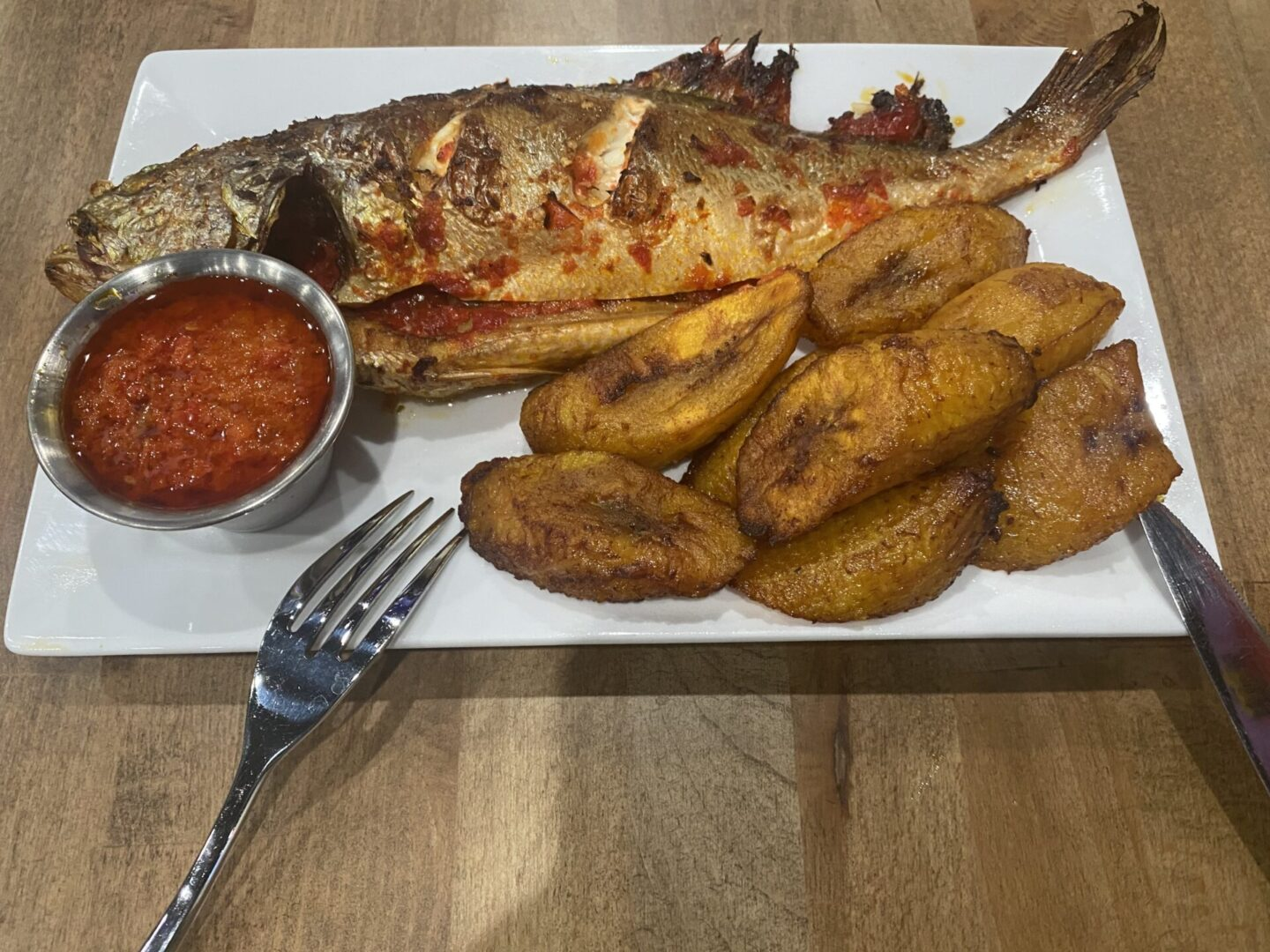 Grilled Croaker Fish+Plantain